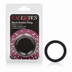 Rubber Cock Ring - Black Medium