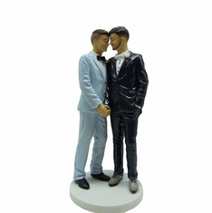 Grooms - Blue and Black Tuxedos