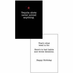 Birthday Cards Tequila
