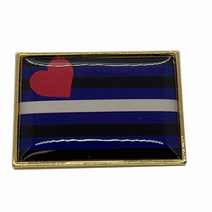 Lapel Pin - Leather Pride
