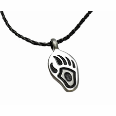 Necklace (Pewter) - Bear Foot