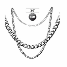 Necklace (Stainless Steel) - Heavy Cuban Chain