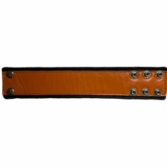 Leather Wristband - Narrow Orange