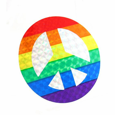 Sticker (Reflective) - Rainbow Peace Sign