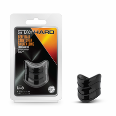 Stay Hard - Beef Ball Stretcher - Black Snug X-Long