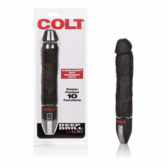 Colt Deep Drill Vibrating Dildo - Black 8""