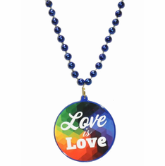 Bead Necklace Love Is Love - Blue