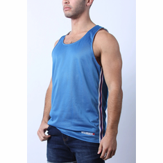 Crossover Reversible Mesh Tank - White/Blue XL