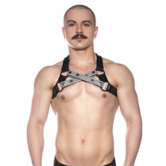 Prowler Red Cross Harness - Grey S/M