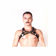Prowler Red Cross Harness - Green S/M