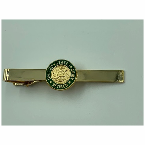 United States Army Retired Insignia Tie Bar