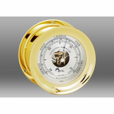 "Chelsea 4 1/2"" SHIP'S BELL BAROMETER IN BRASS"