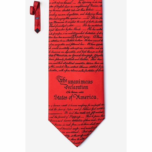 DECLARATION OF INDEPENDENCE SILK TIE