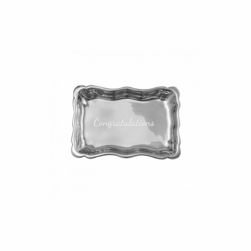 Pewter Scalloped Tray 6""