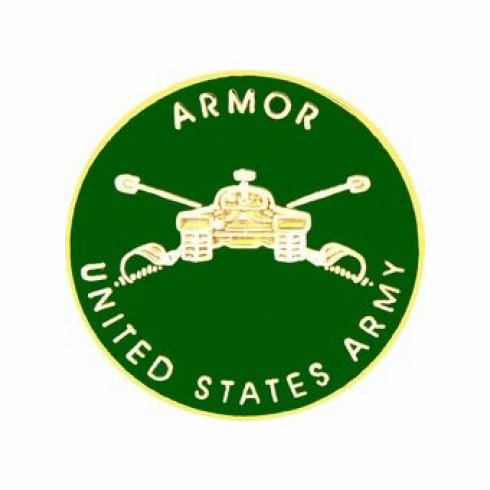 United States Army Armor Pin (3/4 inch)