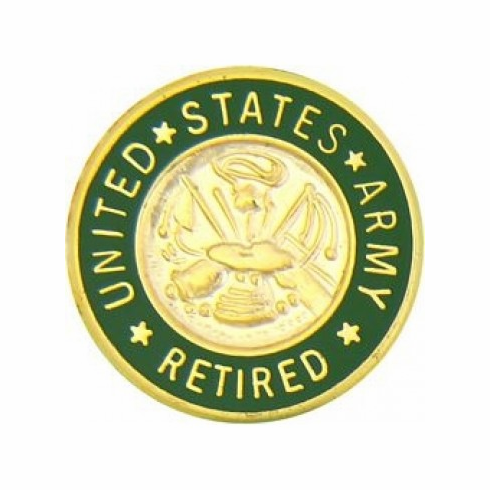 United States Army Retired Insignia Pin