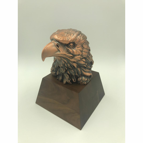 Eagle Head with Walnut Base