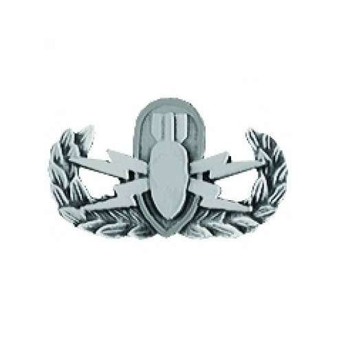 Explosive Ordnance Disposal (EOD) Basic Pin - ANTIQUE SILVER