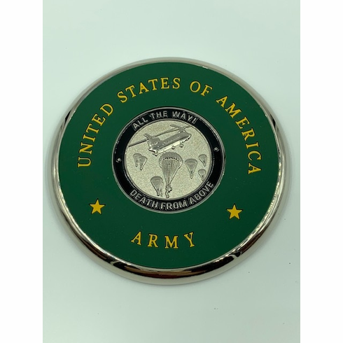 "82nd Airborne ""All the way!"" Coin Coaster"