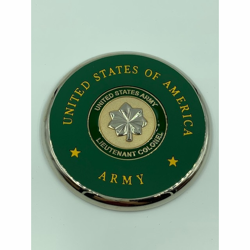 Army Lieutenant Colonel Coin Coaster