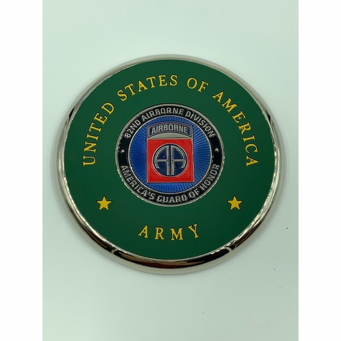 82nd Airborne Coin Coaster