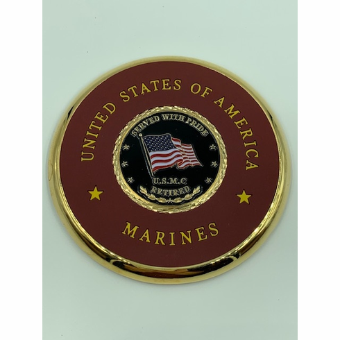 USMC Retired Coin Coaster