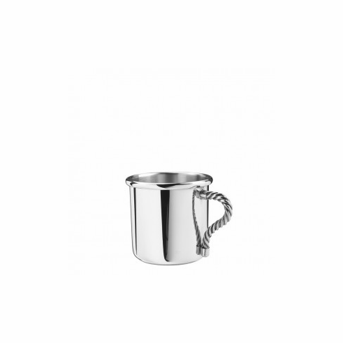 Pewter Rope Handle Baby Cup 5 oz