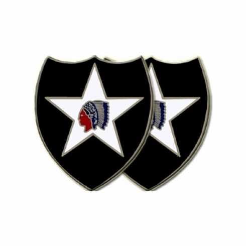 2nd Infantry Division Cuff Links
