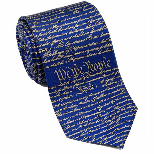 CONSTITUTION NECKTIE BLUE/GOLD