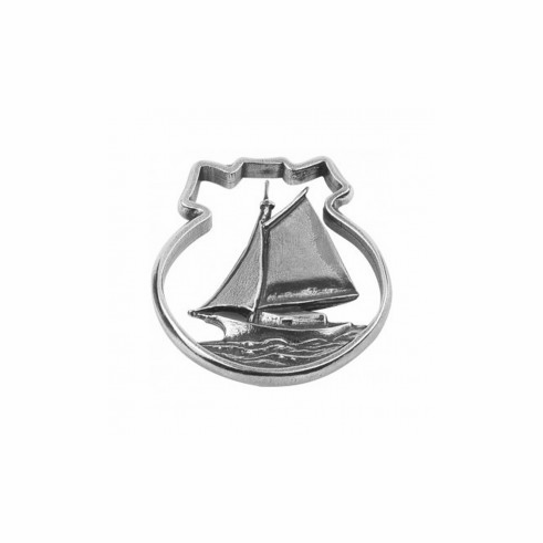 Pewter Traditional Sailboat Ornament