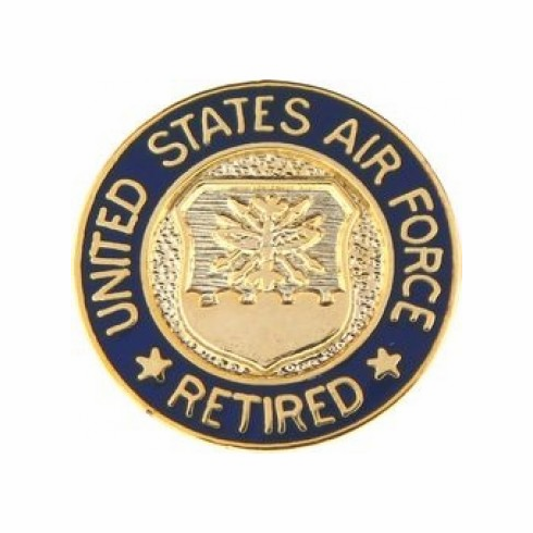 United States Air Force Retired Pin