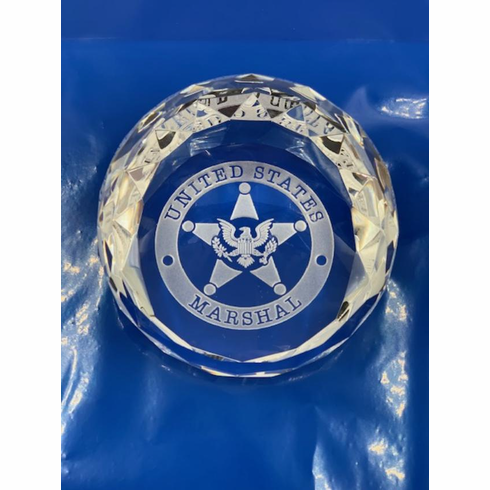 Crystal Paperweight with Logo
