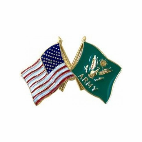 United States & Army Crossed Flags Pin