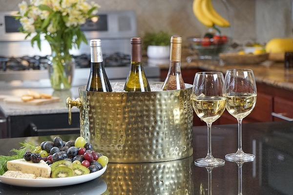 BRASS 3-BOTTLE WINE CHILLER