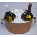 COPPER 2-BOTTLE WINE CHILLER -