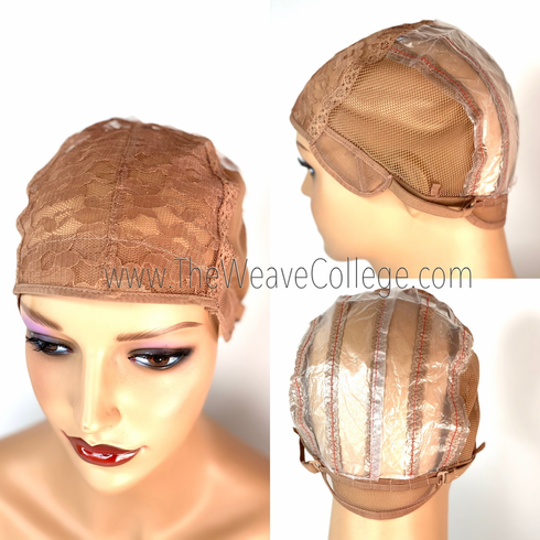 Brown Open Back Wig Cap