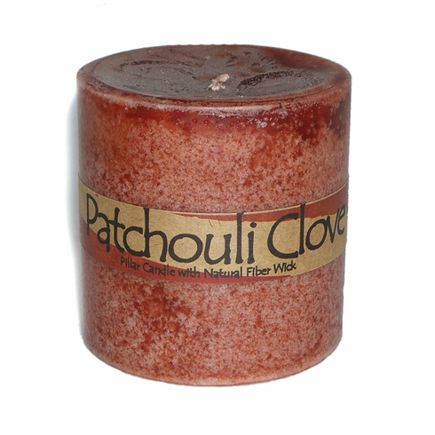 Patchouli Clove Pillar Candle