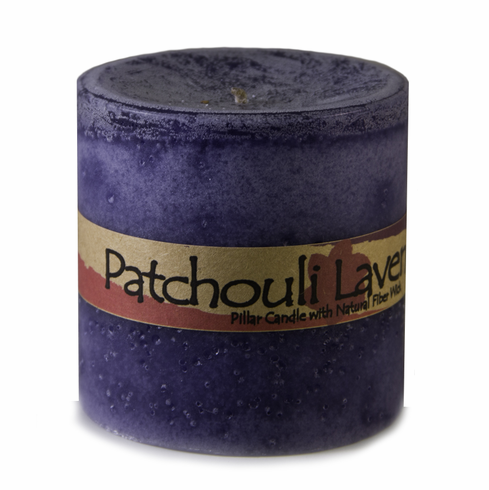 Patchouli Lavender Pillar Candle