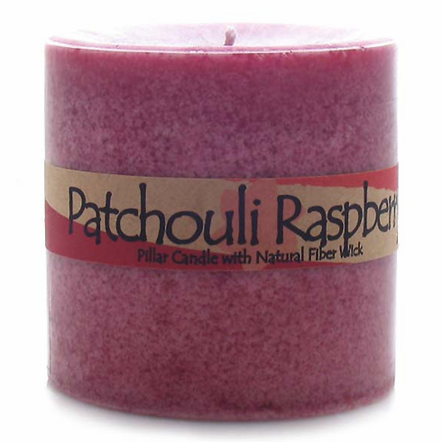 Patchouli Raspberry Pillar Candle