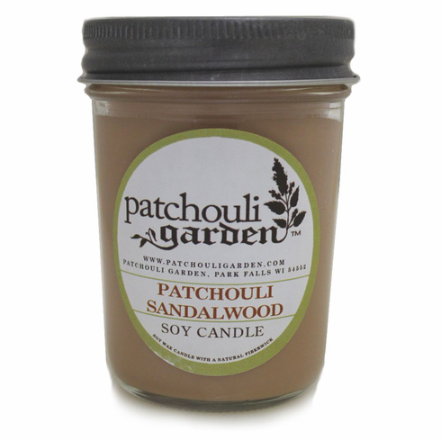 Patchouli Sandalwood Soy Jelly Jar Candle