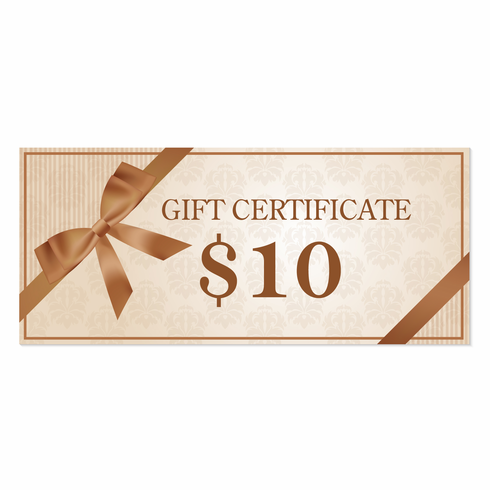 $10 Gift Certificate!