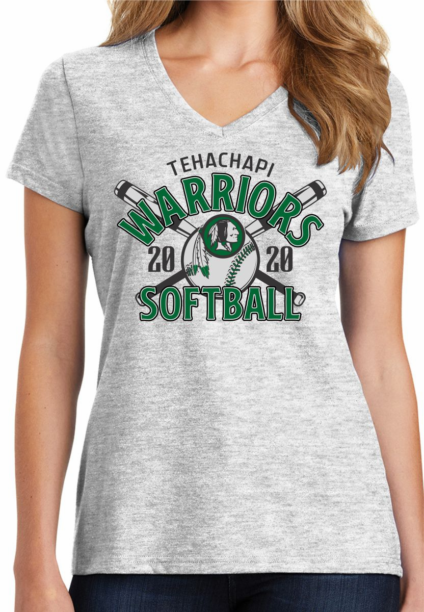 Ladies Softball V Neck Tee