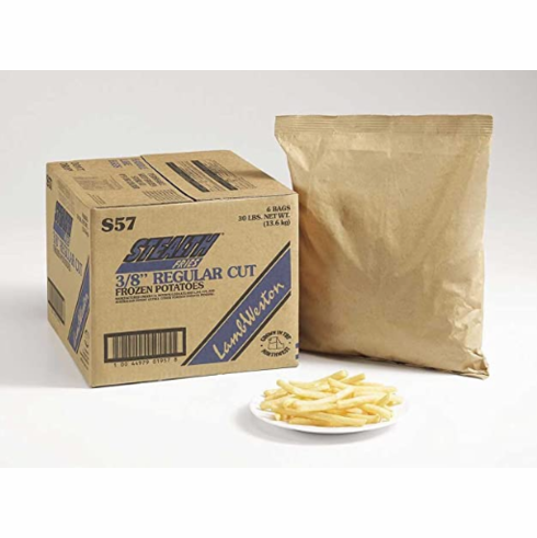 3/8'' Regular Cut Fries(Lamb Weston) <br/>3/8''&#26222;&#36890;&#28856;&#34223;&#26465; 6LBS x5 30LBS