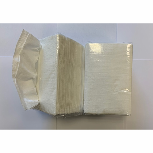 White InterFold Dispenser Napkin  白色抽纸巾 250sheets x 24
