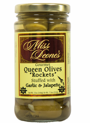 ''Rockets'' Double Stuffed Jalapeno & Garlic Queen Olives