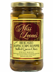 Fire Roasted Jalapeno (Chipotle) Pepper Stuffed Queen Olives