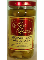 Garlic Flavored Almond Stuffed Queen Olives