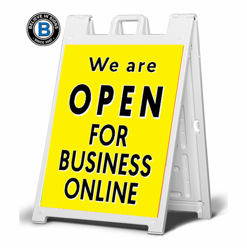 We are open for business online