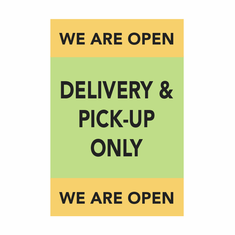 Delivery & Pick-up only - Banner