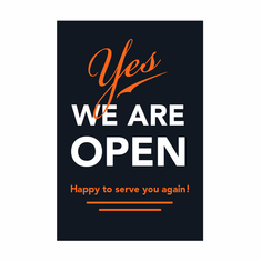 Yes, we are open banner (set of 3)
